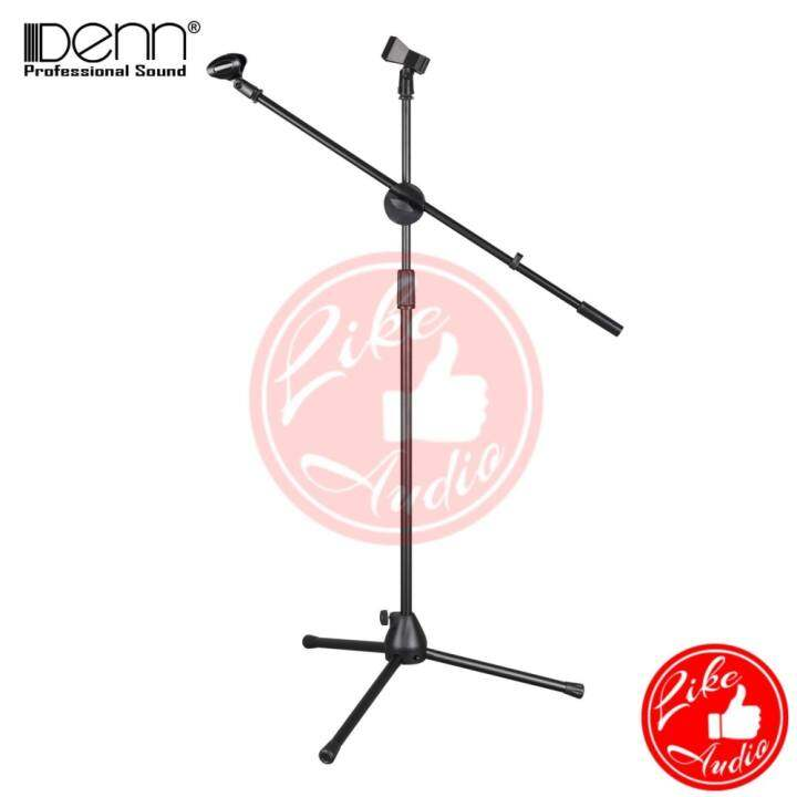 Denn DMS-100S Stage Microphone Stand (Floor Type) With Two Clips