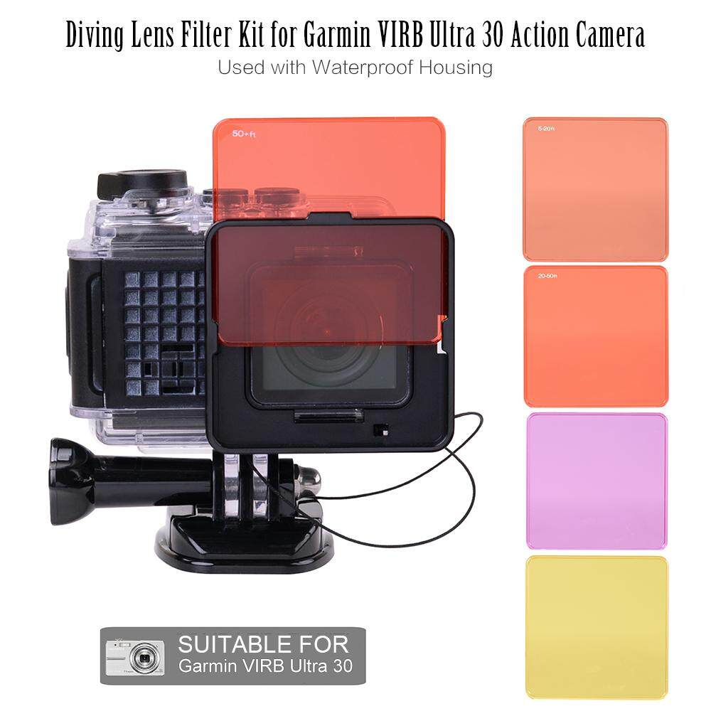Diving Lens Filter Kit for Garmin VIRB Ultra 30 Action Camera Used with Waterproof Housing - intl