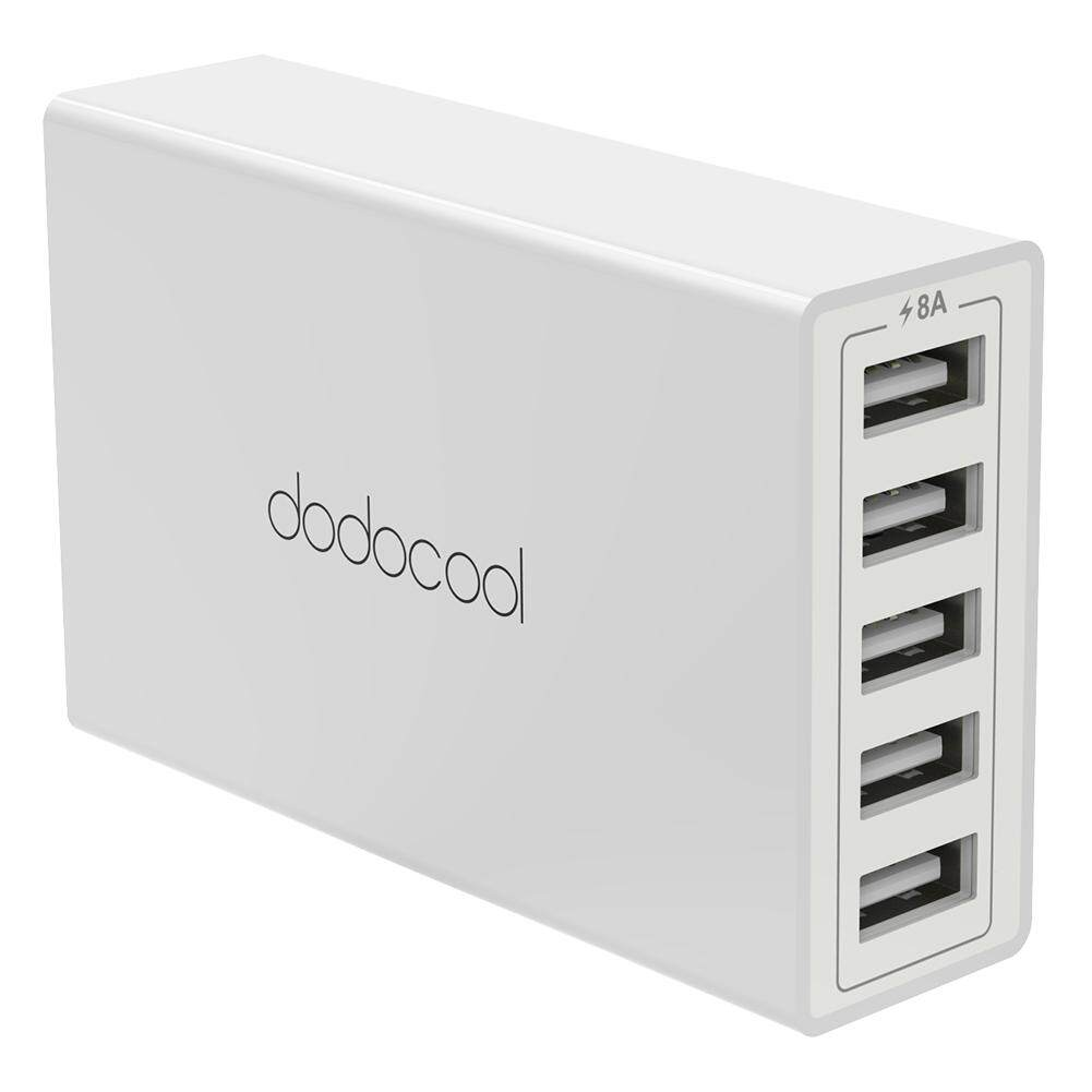 Price Dodocool 40W 8A 5 Port Usb Charging Station Travel Wall Charger Power Adapter With 1 5M Detachable Ac Power Cord For Iphone Ipad Android Smartphone Tablet Portable Device Us Plug White Intl Dodocool Original