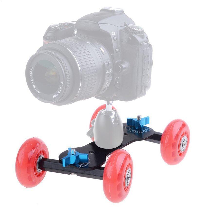 Cestlafit DSLR Truk Roda Skater Atas Meja Kompak Kerek Penggeser Kit Untuk Kamera Video-Intl