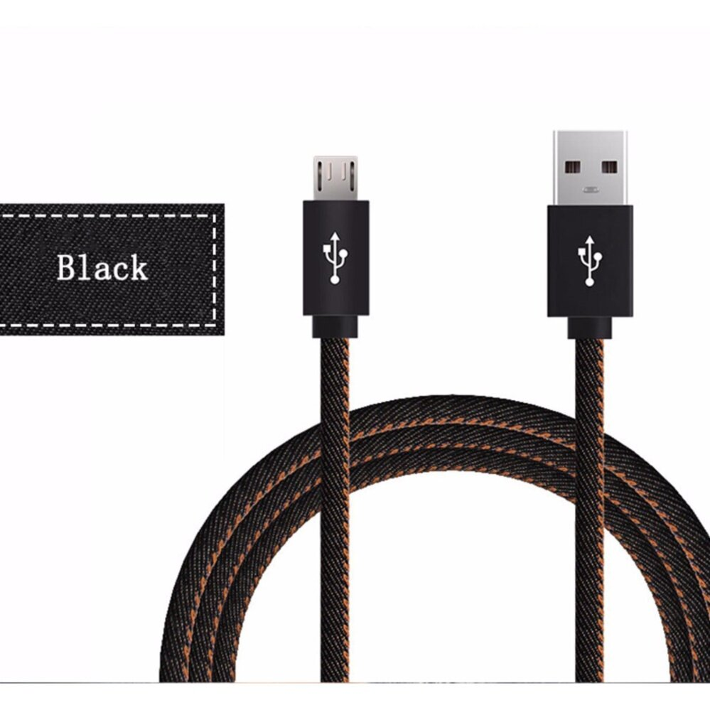 MINI DIXIU DTD Micro USB Cable 1M Fast Charger & Data Cable Denim Braided Cable Mobile