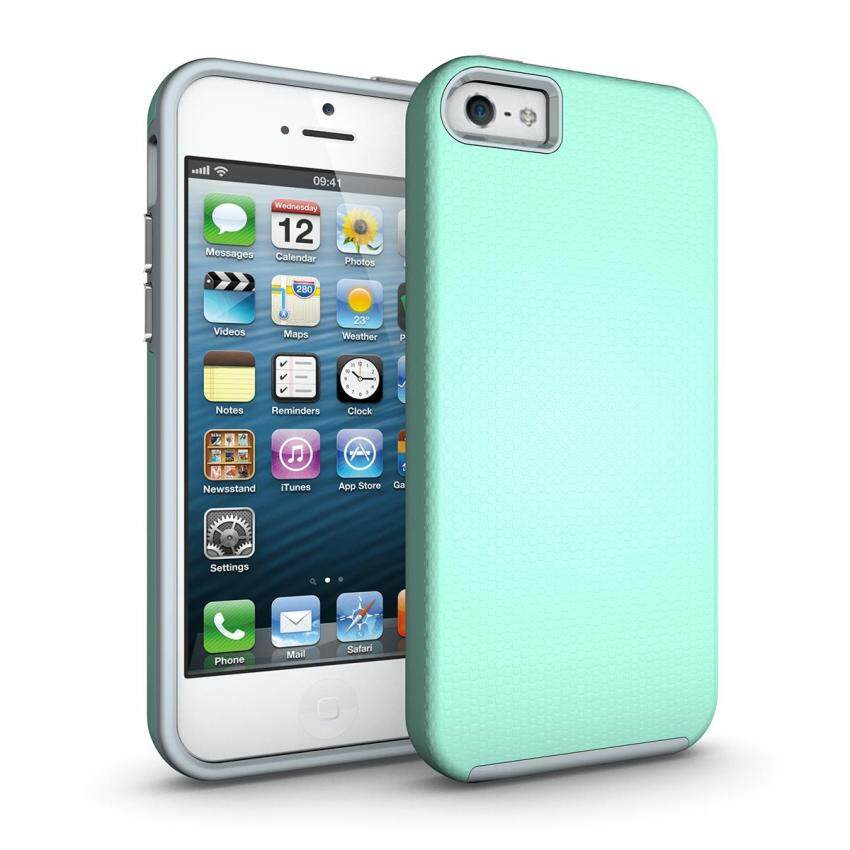 Windcase Dual Layer Anti-slip Back Shock-absorbing TPU Inner Case Cover for iPhone