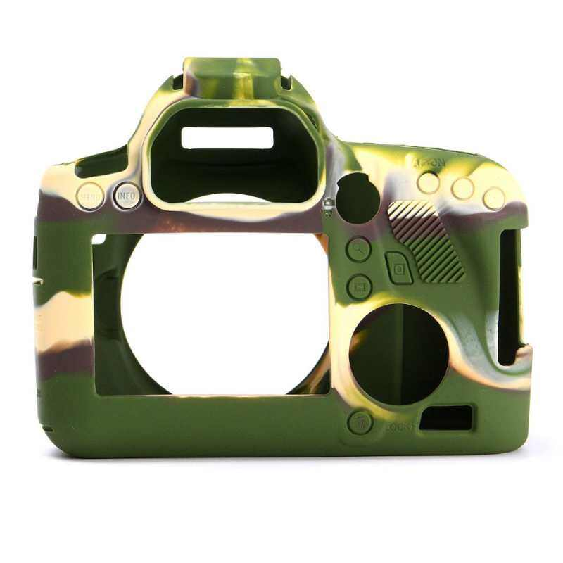 Finemall Durable Silicone Rubber Protector Bag Body Camera Cover Case Skin For Canon 6D Camouflage