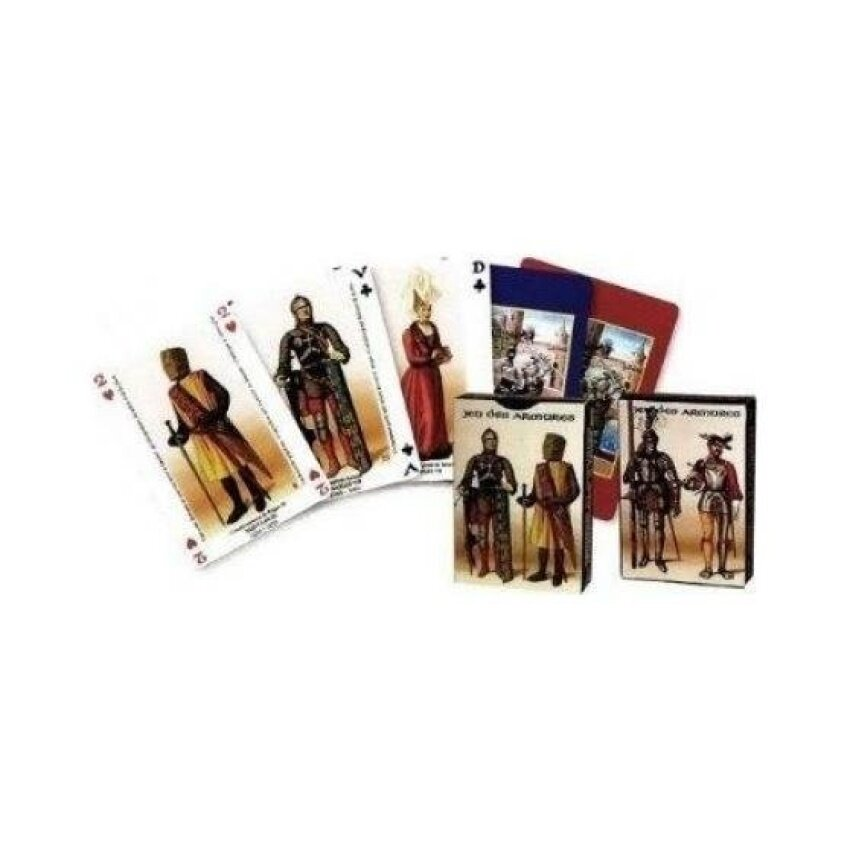 Dusserre - Armors of France 55 Playing Cards Game - intl