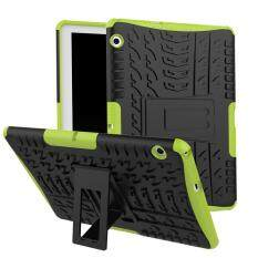 DWAYBOX Ready Stock For Huawei MediaPad T3 10 Shockproof Case Cover Hot Selling New Fashionable 2in1 TPU Soft Silicon + PC Hard Dual Layers Spider Pattern Heavy Duty Hybrid Protective Tablet Case For Huawei MediaPad T3 10 9.6 inch Cover Shell With Stand