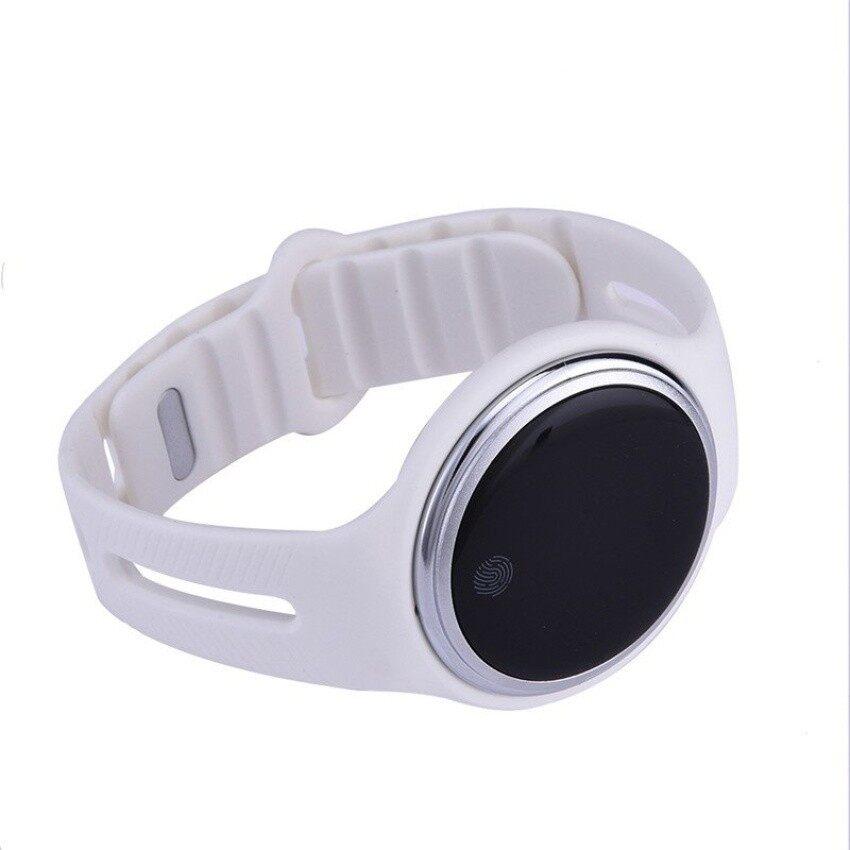 ... E07 Anti Air Bluetooth Jam Tangan Pintar Passometer Pelacak Kebugaran Gelang Pintar Jam Tangan untuk