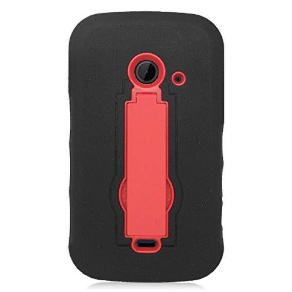 Eagle Cell Hybrid Armor Protective Case with Stand for ZTE Z667/Zinger/Prelude 2/Whirl 2 - Retail Packaging - ZZ0 Red/Black - intl