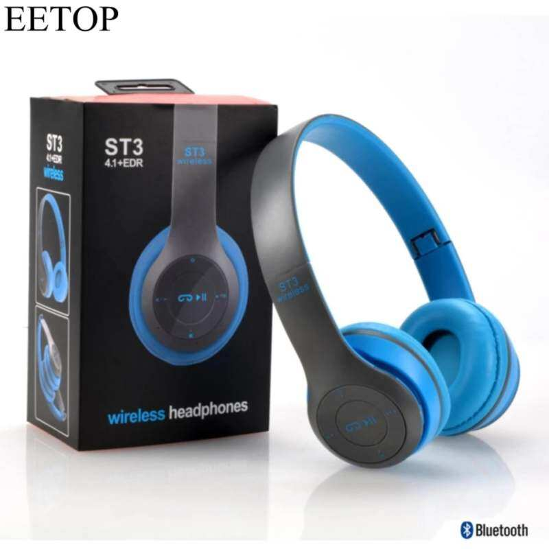 EETOP ST3 Bluetooth Headphones Wireless Headset Earphones TF Card MP3 Player FM Radio with Micphone
