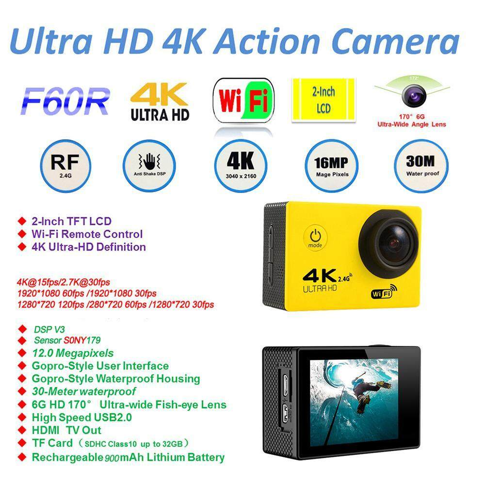 efuture 4K HD Wifi Action Camera 2.0 Inch 170 Degree Wide Angle Lens Action Camera WIFI 4k Waterproof Sports Action...