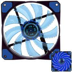 efuture3-Pin/4-Pin 120x120x25mm LED Quiet Edition High Airflow Low Noise High PressureFan Single Pack 15-RLED Mini Cooling Cooler Fan, Blue Malaysia