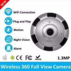2017 Mới Nhất Mini Không Dây Xoay 360 Độ 960 P Toàn Cảnh WIFI Camera An Ninh IP Fisheye có HỒNG NGOẠI Quan Sát Ban Đêm