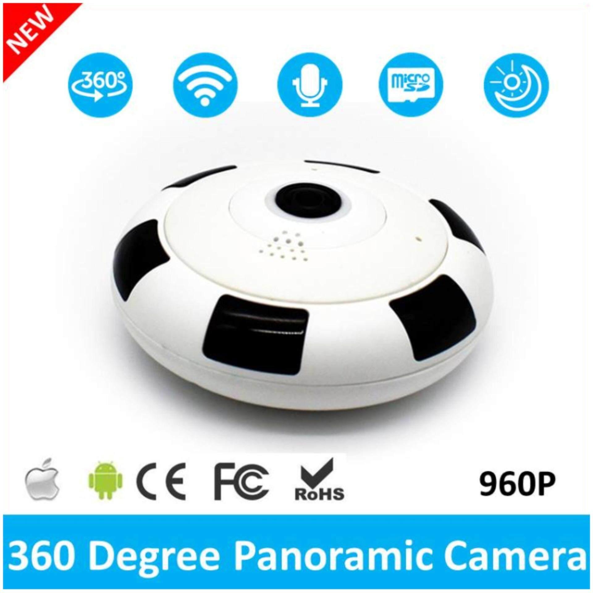 2017 Mới Nhất Mini Không Dây Xoay 360 Độ 960 P Toàn Cảnh WIFI Camera An Ninh IP Fisheye có...