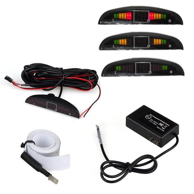 West Hua Elektromagnetik Otomatis Reversing Mobil Parkir Radar Sensor dengan LED Bel-Internasional