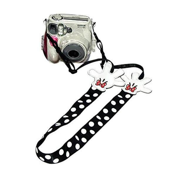 Eleshroom Instant Camera Strap, Cute Neck Shoulder Strap Belt for Fujifilm Instax Mini 25/ Mini 50/ Mini 7/ Mini 8/ Mini 90, Polaroid Socialmatic, Digital Camera Canon Nikon Samsung (White/Black Dots) - intl