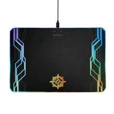 ENHANCE LED Gaming Mouse Pad Hard Large Surface - 7 RGB Light Up Modes , Lighting Brightness Controls with Transparent Decals & Edges - Ambient Desktop Lighting & Accurate Tracking Malaysia