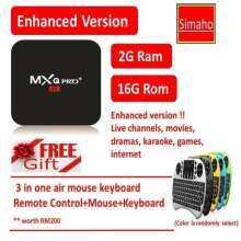 Android TV BOX Enhanced version MXQ pro plus (free air mouse keyboard)  android tvbox IPTV tv box live channels movies dramas karaoke games  internet