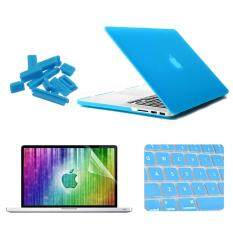 Enkay For Macbook Pro Retina 13.3 Inch (us Version) / A1425 / A1502 4 In 1 Frosted Hard Shell Plastic Protective Case With Screen Protector & Keyboard Guard & Anti-Dust Plugs(blue) By Puluz.