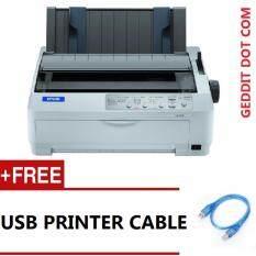 Epson Lq-590 Ii A4 24-Pin Usb / Parallel High Speed Impact Dot Matrix Printer Office / Home A4 ( Free Usb Printer ) By Geddit Dot Com.