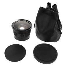 Era 0.35X58 Mm Kamera Super HD Mata Ikan Sudut Lebar Lensa dengan Macro untuk Canon EOS