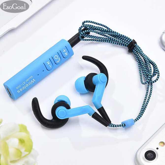 ESO Tujuan Bluetooth Nirkabel Headphone Olahraga Kerja Telinga Tunas Gimnasium Headset Menjalankan Earphone Tahan Keringat Penyumbat