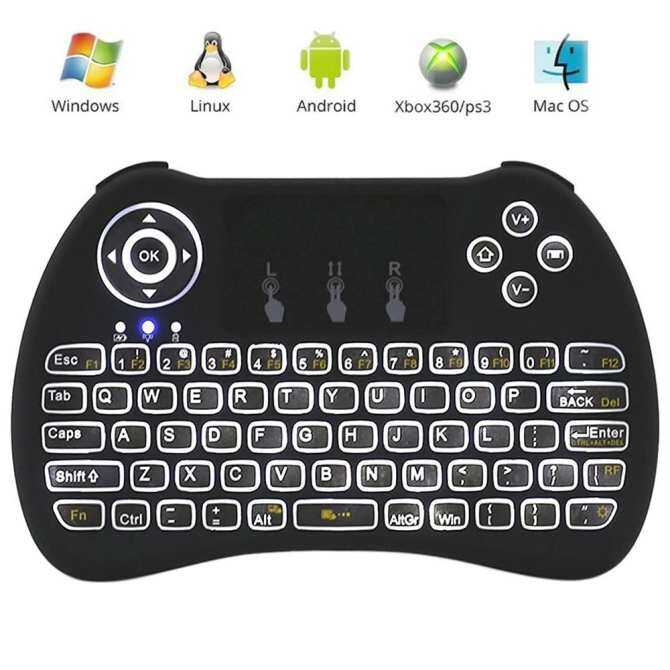 EsoGoal 2.4Ghz Wireless Mini Portable Backlit Keyboard With Touchpad For PC, Pad, Xbox