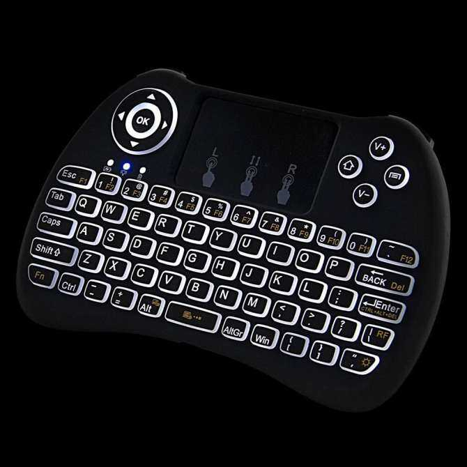 EsoGoal 2.4Ghz Wireless Mini Portable Backlit Keyboard With Touchpad For PC,