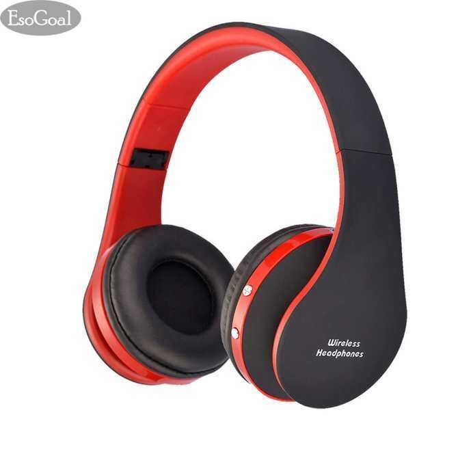 ESO Tujuan Bluetooth Headphone Nirkabel Headset Olahraga Gimnasium Menjalankan Latihan Pada Telinga Earphone (Merah +