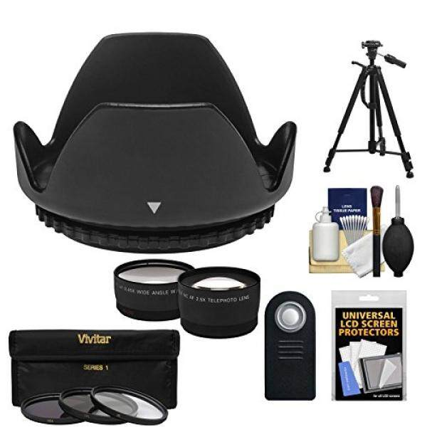 Essentials Bundle for Nikon D3200, D3300, D5200, D5300 & D5500 Digital SLR Camera and 18-55mm VR Lens with 3 (UV/CPL/ND8) Filters + Hood + Tripod + Tele/Wide Lenses + ML-L3 Remote Kit - intl