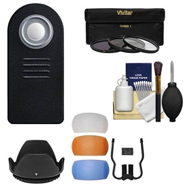 Essentials Bundle untuk Nikon D5500, D7100, D7200, d7500 DSLR Kamera dengan 18-140 Mm Lensa VR + Remote + 3 UV/CPL/ND8 Filter + penyebar Cahaya Flash + Hood Kit-Intl