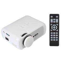 ETOUCH U80 Full HD 1000LM Mini Home Office Multimedia LED Video Projector VGA USB AV SD EU Plug
