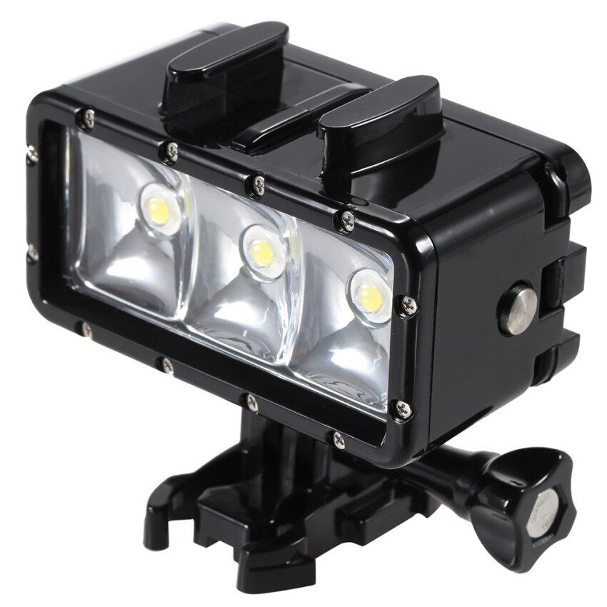 Evercute Mini Portabel LED Menyelam Video Fill-Dalam Ringan Lampu Spotlight 3 Mode Anti-Air Di Bawah Air 30 M untuk GoPro hero SJCAM Xiaomi Yi Olahraga Kamera Aksi-Internasional