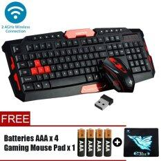 EVERY1 DSFY HK8100 Mini 2.4Ghz Wireless USB Combo Set Multiedia Keys Gaming Keyboard And 4D Multiple Function Keys Mouse  For PC/Laptop (Free Battery )[NP46] Malaysia