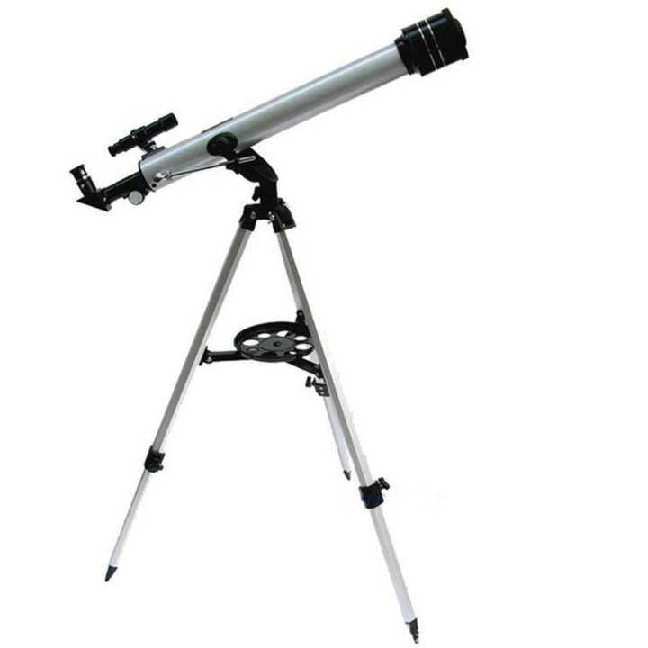 (Free Sport Watch+Whatsapp Online Service 24H) F60700 Refractive 525 X Zoom Astronomical Telescope (700/60mm) Monocular Telescope for Astronomical Observation With 360 Degree Adjustable Aluminum Tripod