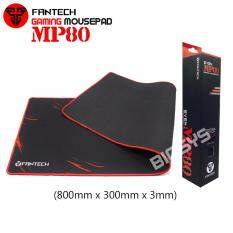 Fantech SVEN MP80 High Non-Slip Base Gaming Mouse Pad with Edge Sewed (Black mix Red) Malaysia