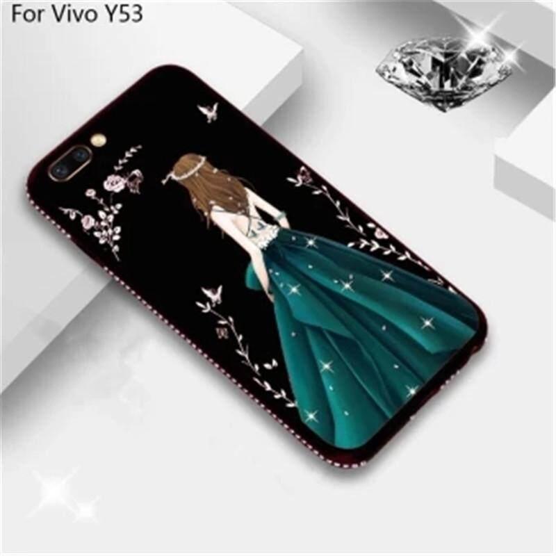 Modis Bling Secret Taman Cantik Cantik Goddess Berlian Lembut Tpu Telepon Case Sarung untuk Vivo Y53-Internasional
