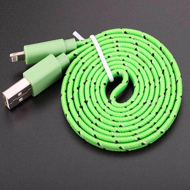 Fashion color Ipod USB Cable 1M Lightning Data Sync Charger Cable for iPhone 6 5 5S 5C ipad 4 mini