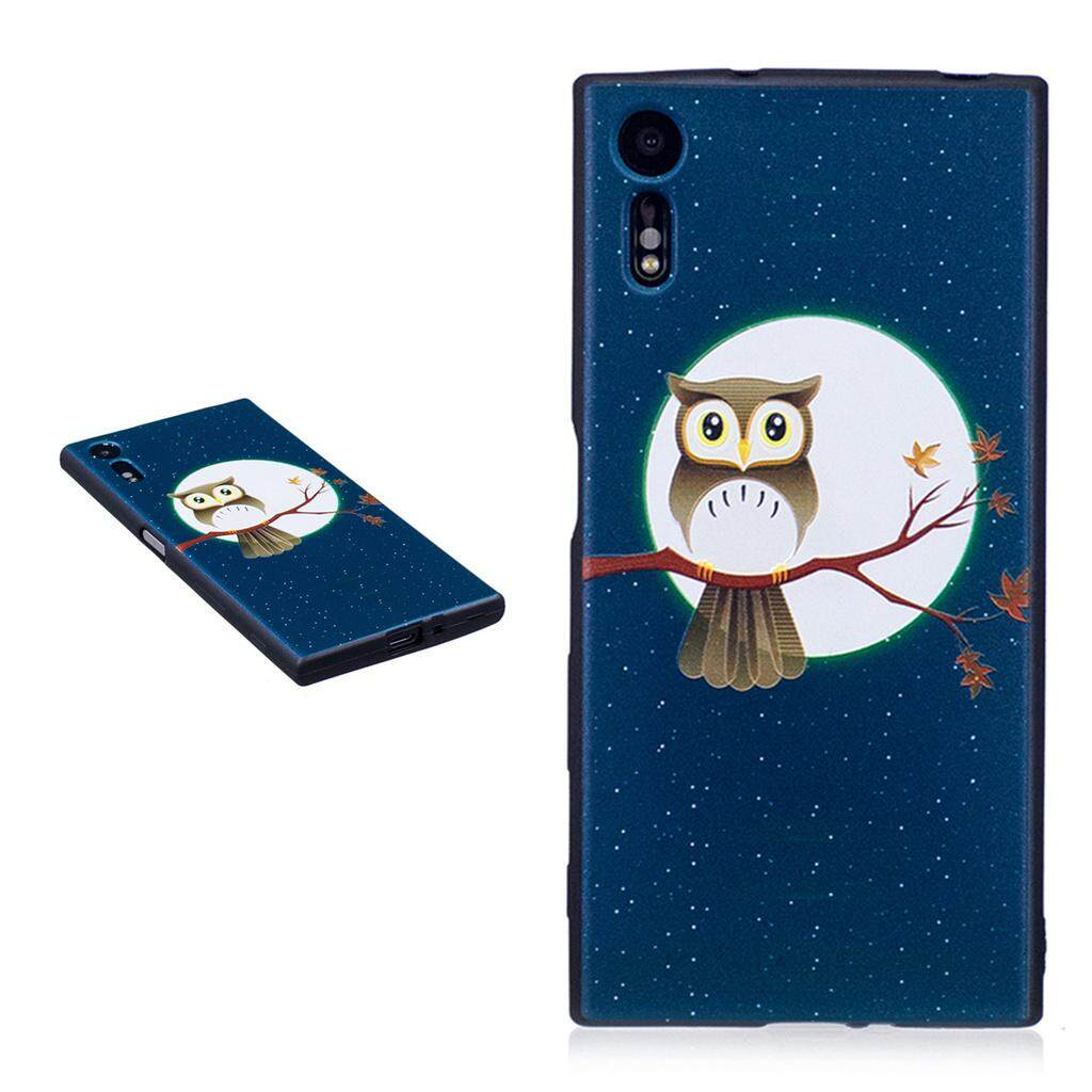Fashion Pattern Slim Protective Skin Soft TPU Cover Buffer phone case for Sony