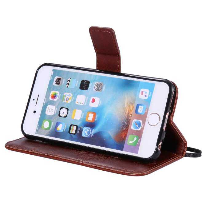 Fashion Tree Protective Stand Wallet Purse Credit Card ID Holders Magnetic Flip Folio TPU Soft Bumper