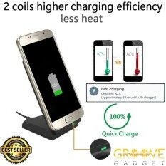 Fast Charge Wireless Charger Stand Type For Samsung Iphone Huawei By Groove Gadget.