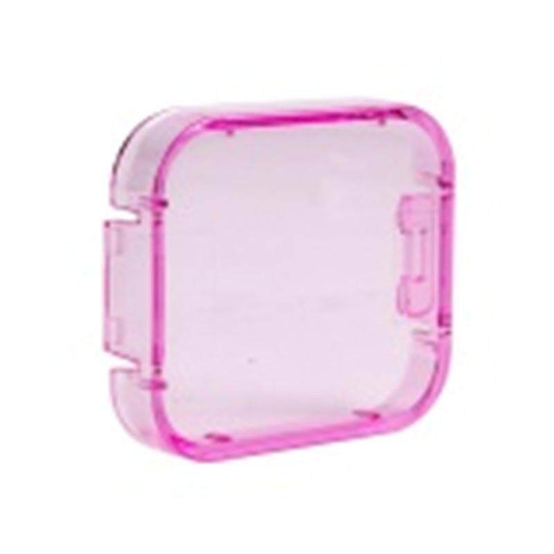 Filter Lens Red Orange Yellow Underwater Sea Div Camera Cover Cap Hood for Go pro Hero 5 Go Pro Session Action Soprt Camera Accessories (Pink) - intl