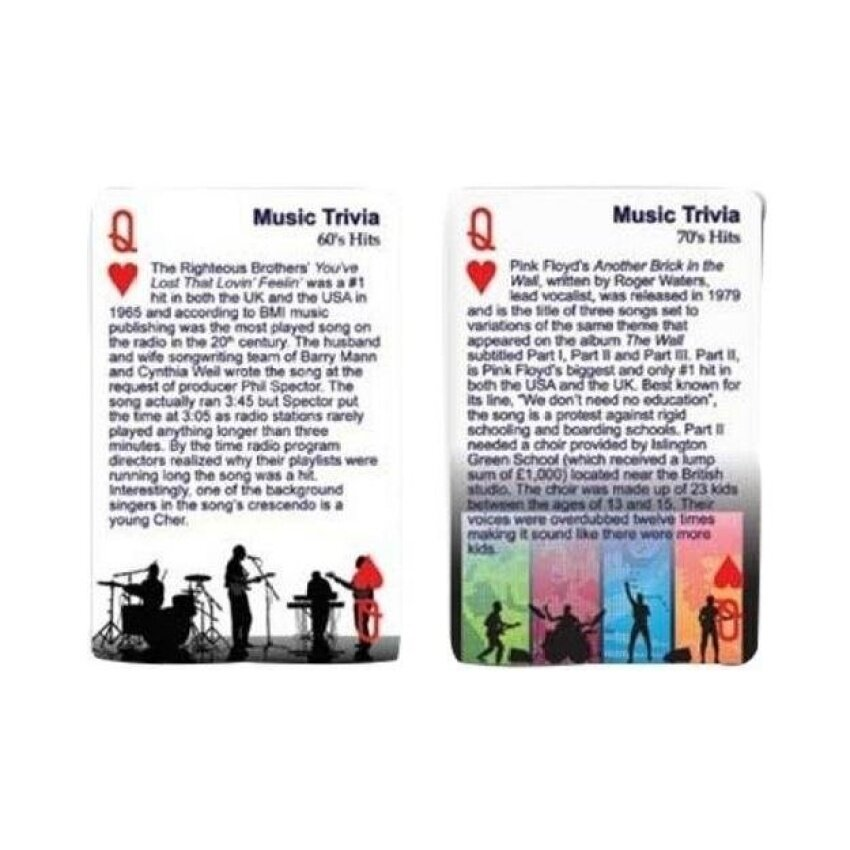 Finders Forum Playing Cards - Music : Hit Singles Trivia - intl