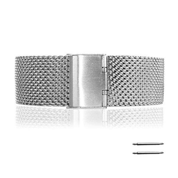 Fitian 22mm Stainless Steel Strap Replacement Watchband for Motorola Moto 360 1st gen Smart Watch Motorola Wristband with Screen Protector and Spring Bar Jeweler Too - intl