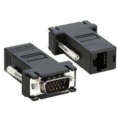Fixon9657 Db15 Vga To Rj45 Lan Cat5e Cat6 Network Cable Video Extender Adapter By Fixon9657.