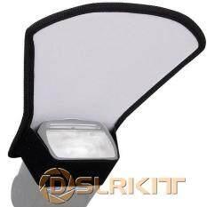 Flash Difuser Lembut Silver Reflektor Putih untuk Canon 600EX-RT 580EX 430EX II 420EX II untuk Nikon SB910 SB900 SB800 SB700 SB600