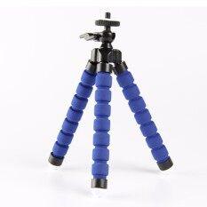 Fleksibel Mini Tripod Kecil Stand Kamera untuk GoPro Nikon Canon Sony Biru