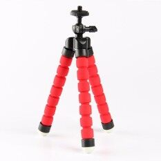 Fleksibel Mini Tripod Kecil Stand Kamera untuk GoPro Nikon Canon Sony Merah