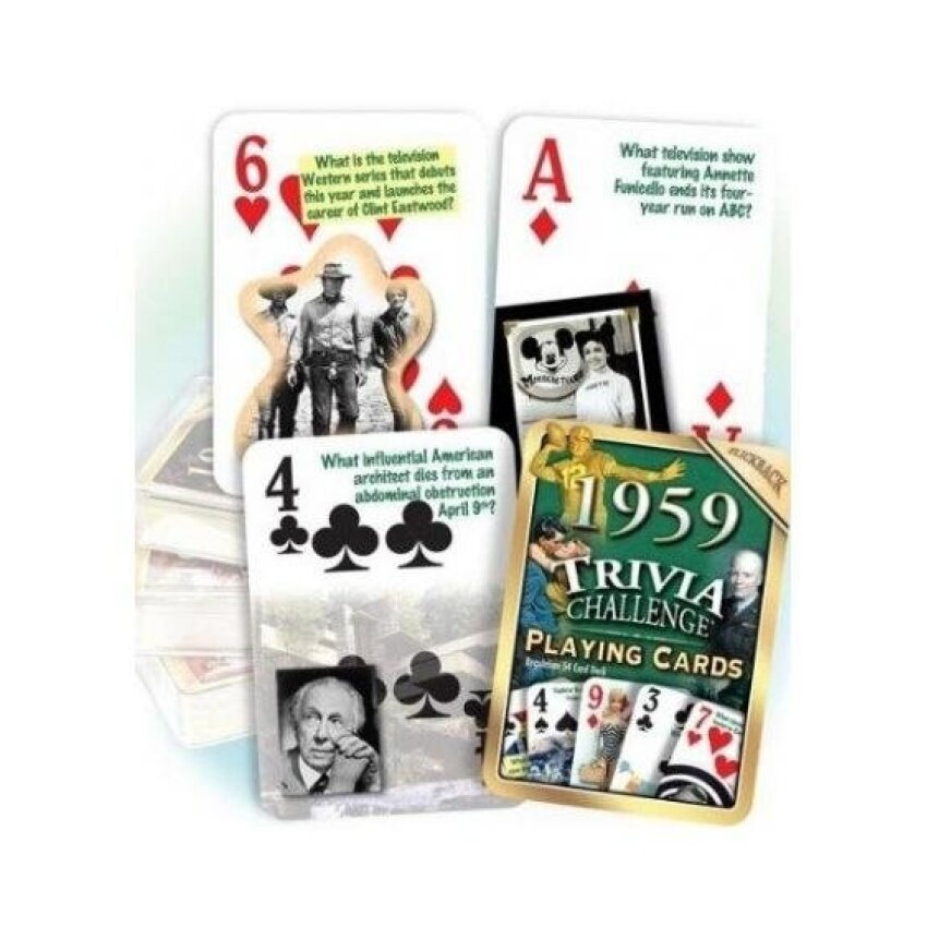 Flickback 1959 Trivia Playing Cards - intl