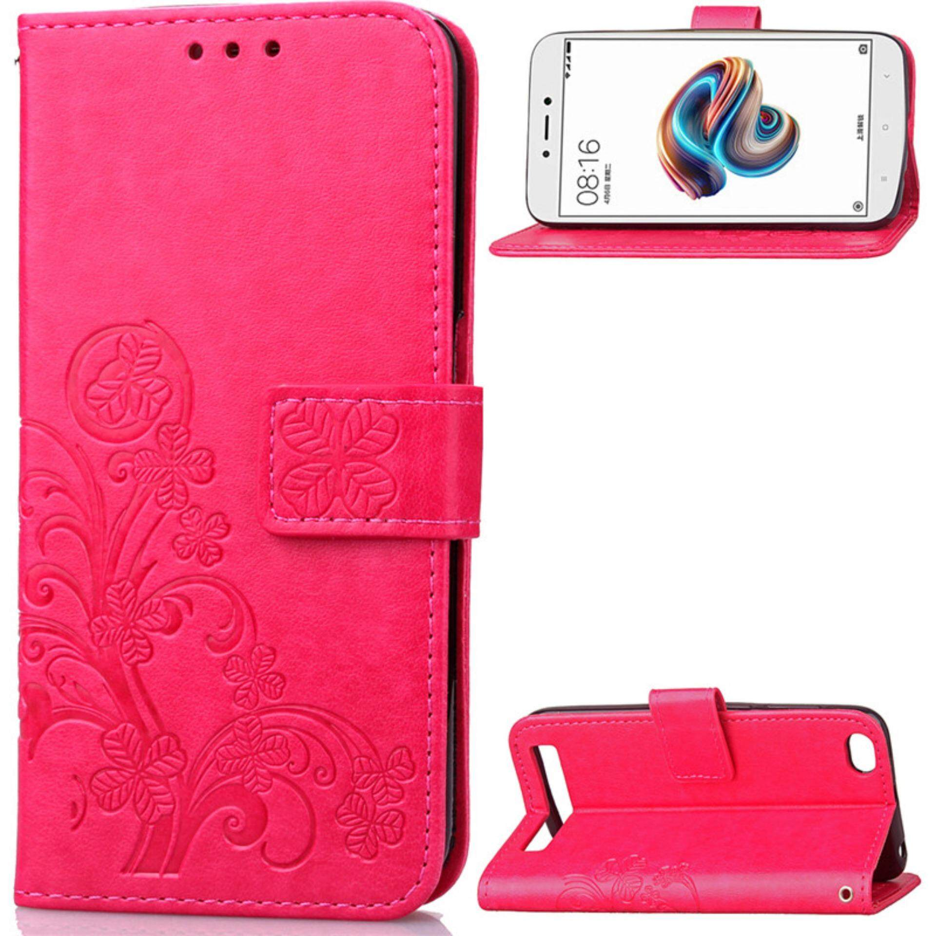 Flower Debossed Leather Flip Cover Case for Xiaomi Redmi Note 5A - intlTHB223. THB 223
