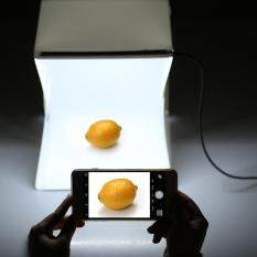 Lipat Portabel Mini Fotografi LED Lightbox Studio untuk iPhone Samsang Htc Lg Smartphone Digital atau Kamera DSLR