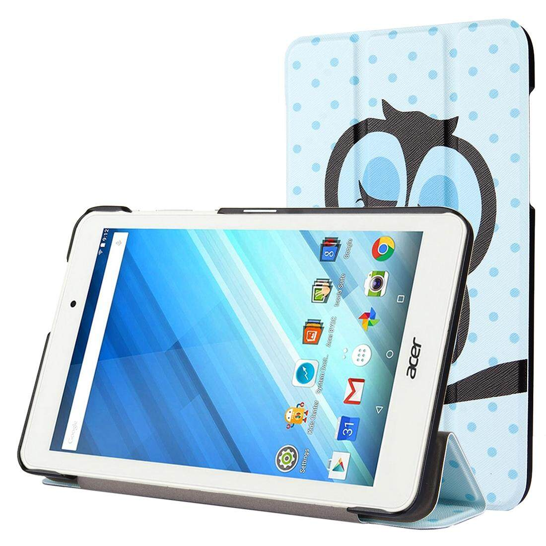 Low Cost For Acer Iconia One 8 B1 850 Owl Pattern Horizontal Flip Leather Case With Three Folding Holder Intl